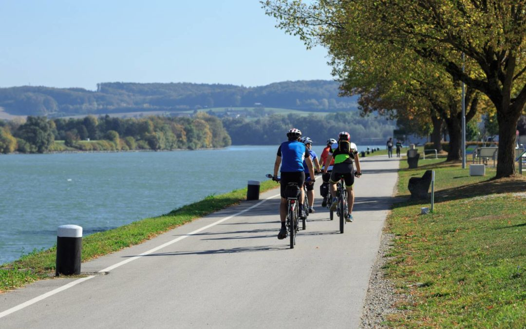 Radfahrer entlang der Donau - oesterreich-tagungshotels.com